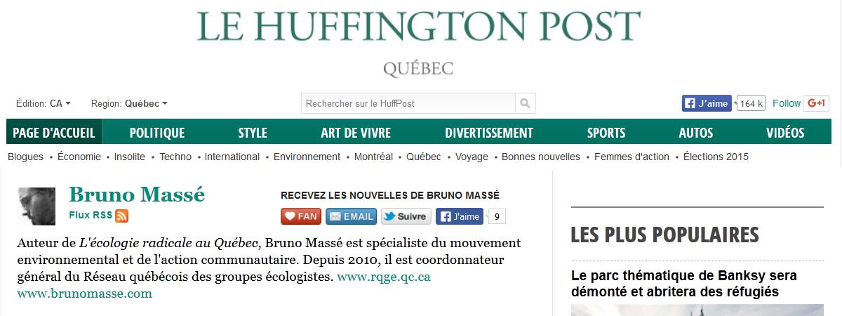 Blogue de Bruno Massé